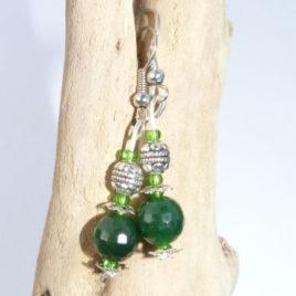 Ohrring (grün)
