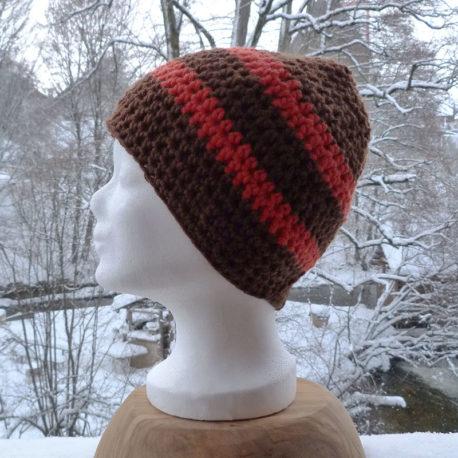 Mütze-Braun-Orangen
