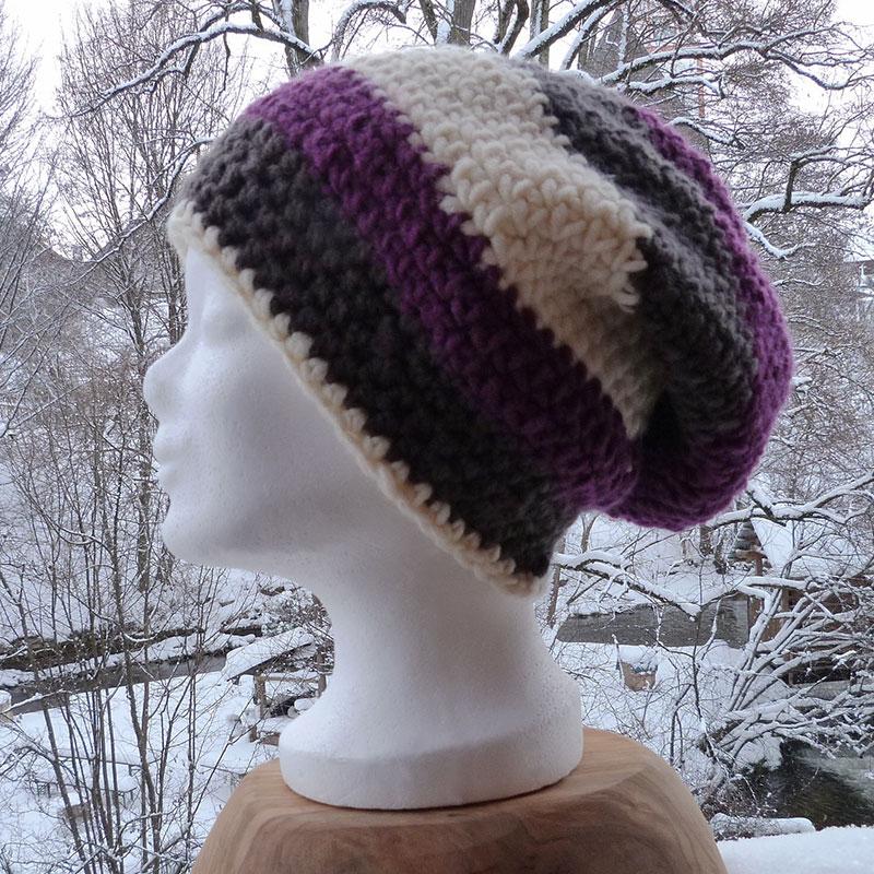 Mütze grau/lila/schwarz Image
