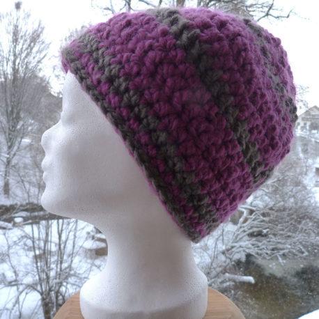 Mütze-lila-grau