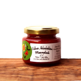 Erdbeer Marmelade mit Holunderblüten 115g